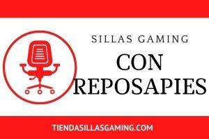 Sillas gaming con reposapies